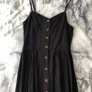2 for $10 Black Maxi Dress with Buttons